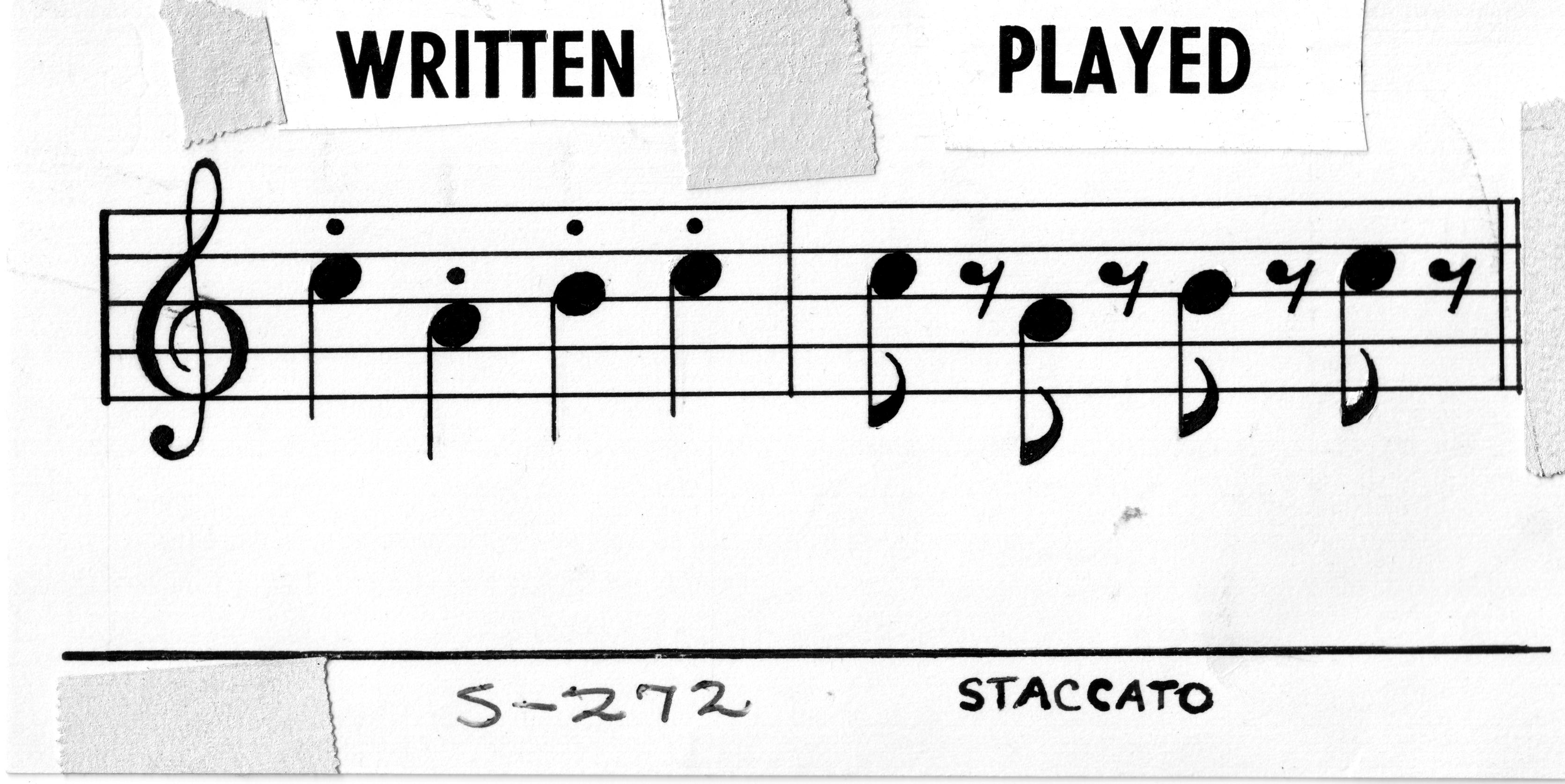 Nhìn vậy mà không phải vậy. Staccato phức tạp hơn là chỉ chơi nốt ngắn.